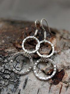 Hopeakorvakorut Taotut korvakorut Hopeatyöt Handmade Jewelry Silver Jewelry