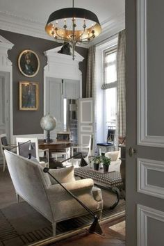 A very chic Parisienne apartment from another angle.  Jean-Louis Deniot.