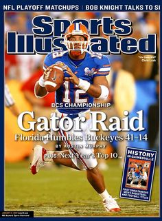I remember the night you committed to the fighting Zookers at the Army HS all-star game, and I remember the night you raised the trophy in Arizona...Gator Great Chris Leak