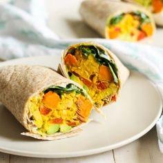 These Chickpea, Sweet Potato & Avocado Freezer Wraps are the perfect grab…