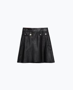 ZARA - COLLECTION AW15 - LEATHER SKIRT
