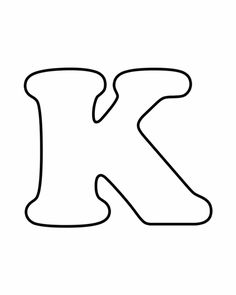 Letters for coloring: K