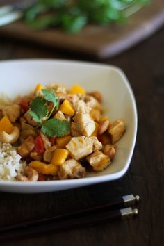 Mango Cashew Chicken - better than takeout!