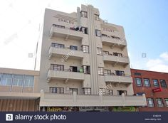 Art Deco Building, 3rd Street, Springs, East Rand, Gauteng Province Stock Photo…