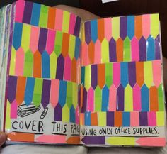 wreck this journal with office supplies