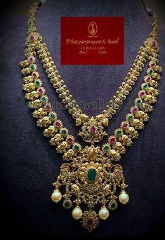 Jewellery Designs: Uncut Diamond Set Satyanarayana Jewels