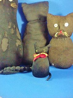 Antique Miniature Black Sock Cat Kitty Toy by AmericanaAntiques