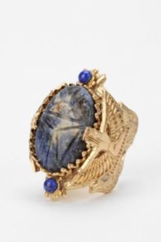 #Urban Outfitters         #ring                     #Blue #Scarab #Ring       Blue Scarab Ring                                    http://www.seapai.com/product.aspx?PID=1631072