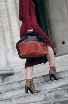 H&M Studio Knitted dress Mode Blog, Knit Dress, Street Style, Studio, Bags, Shoes, Dresses, Fashion, Handbags