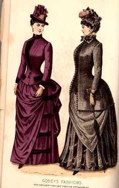 Plates from Godey's Lady's Book, March, 1885