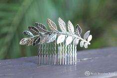 Hey, I found this really awesome Etsy listing at https://www.etsy.com/listing/199396307/large-silver-leaf-hair-combsilver-hair