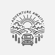 Travel Drawing Doodles - Travel Videos Girl - Travel Videos The World - Adventure Travel Bali - California Travel San Diego - Travel Design App Logo Circular, Travel Drawing, Camping Drawing, Travel Logo, Fashion Drawings, Cute Tattoos, Pyrography, Night Skies, Easy Drawings