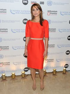 Queen Rania of Jordan attends the 2010 MDG Summit concluding reception at The Plaza Hotel on September 22, 2010 in New York.