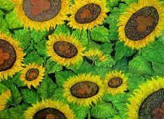 GALERIA PALOMO MARIA LUISA: GIRASOLES... Painting, Art, Sunflowers, Painted Flowers, Naturaleza, Art Background, Painting Art, Kunst, Paintings