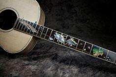 Beautiful inlays by master luthier Chris Alvarado of Driftwood Guitars Guitar Building, Ukulele, Driftwood, Acoustic, Guitars, Music Instruments, Beautiful, Musical Instruments, Guitar