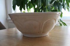 Large white ceramic mixing bowl. #Etsy #vintage