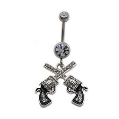 Belly Button Ring Navel 316L Surgical Steel, Cubic Zirconia, Logo,... ($6.92) ❤ liked on Polyvore featuring jewelry, gem jewelry, gemstone jewelry, dangling jewelry, logo jewelry and cz jewelry