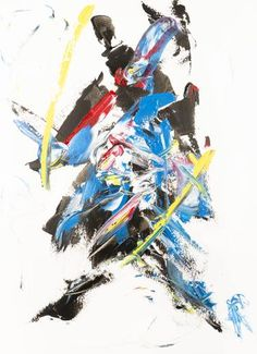 Original Abstract Painting by Alexis Reynaud Abstract Expressionism, Abstract Art, Original Art, Original Paintings, Musashi, Sculpture, Katana, Buy Art, Ninja Japan