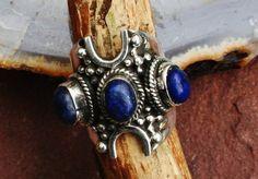 Super Mooie Vintage Stijl Lapis Lazuli Sterling door EASTERNSOULS