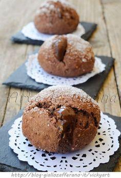 Bomboloni veloci al cioccolato e mandorle ricetta dolce vickyart arte in cucina
