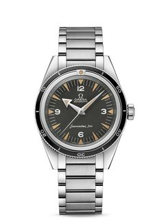 Omega Seamaster 300 - Re-Edition. Part of THE OMEGA 1957 TRILOGY LIMITED EDITIONS presented at Baselworld 2017