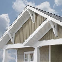 22 Ideas Exterior House Siding Board And Batten Cedar Shakes Corbels Exterior, Craftsman Style Exterior, Exterior House Siding, Craftsman Decor, House Exteriors, Exterior Paint Colors, Exterior House Colors, Paint Colors For Home, Exterior Design
