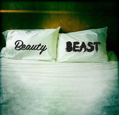 beauty and the beast pillows!