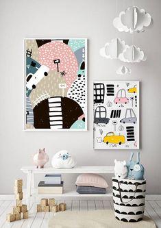 SCANDI CARS BOYS hills modern kids art Scandinavian style bedroom print white pink black yellow p Furniture Layout, Cheap Furniture, Kids Furniture, Furniture Cleaning, Furniture Dolly, Furniture Removal, Furniture Outlet, Furniture Stores, Bedroom Furniture