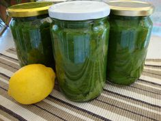 Yams, Greek Recipes, Pickles, Cucumber, Cake Recipes, Mason Jars, Recipies, Food And Drink, Cooking