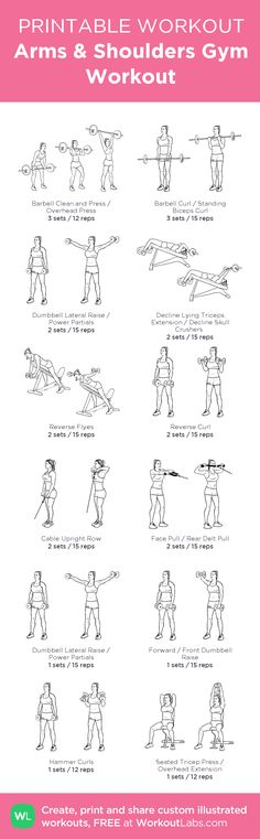 Arms & Shoulders Gym Workout: my visual workout created at WorkoutLabs.com • Click through to customize and download as a FREE PDF! #customworkout