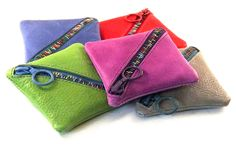 Square Coin purse - Leather, handmade in London by Melissa Simpson