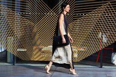 Lanvin dress, Erickson Beamon necklace, Sophie Hulme bag, Manolo Blahnik shoes #australia #fashion #week