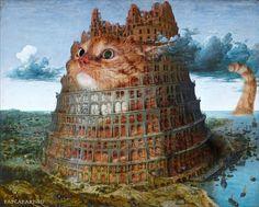 Svetlana Petrova, Fat Cat Art on ArtStack #svetlana-petrova #art