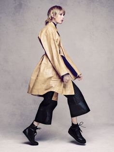 nice Edie Campbell does oversized style for Vogue China December 2015 by Sølve Sundsbø  [fashion]