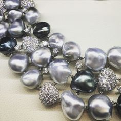 A rare sight - South Sea Keshi pearls in a spectacular YokoLondon necklace that took 10 years to collect