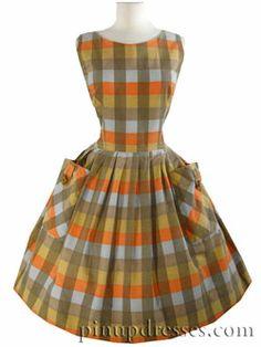 50's plaid dress