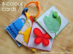 Simple color quiet book for babies