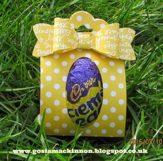 My little egg Easter gift boxes I made specially for my family.         To made it I used brights designer paper stack measure  7-1/4'' x ...