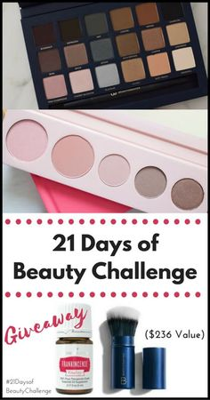 21 Days of Beauty Challenge + Giveaway! - Learn how to create a habit and give yourself time for self-care in this #beauty challenge. Get more info at www.realnutritiousliving.com #makeup #challenge