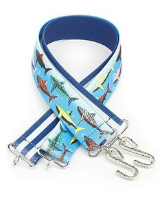2 Pack Shark & Striped Elasticated Belts Clothing