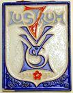 2. Porceleyne Fles, reliëftegel, LSV-lustrum 1935, ontwerp Richard Roland Holst (coll..Julius Branolte)