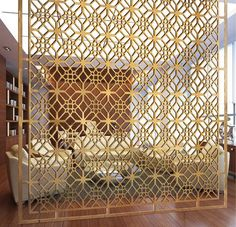 Chinese manufacturer of laser cut screens and modern metal furniture, specialize in custom design decorative metal products and ship worldwidely. Laser Cut Screens, Laser Cut Panels, Living Room Partition Design, Room Partition Designs, 3d Laser Printer, Jaali Design, Decorative Screens, Metal Screen, Grill Design