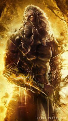 Zeus (Jupiter) Greek God - Art Picture by God of War Greek Gods And Goddesses, Greek And Roman Mythology, Titans Greek Mythology, God Of War, Fantasy Creatures, Mythical Creatures, Dark Fantasy, Fantasy Art, Zeus Greek