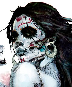 Voodoo Priestess by Kent Floris, via Behance