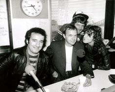 John Swan with Angus Young - radio interview Back In Black tour