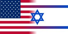 israel and american flag