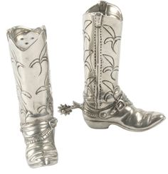 Boot salt and pepper shakers ($70); Gorsuch in Vail, Aspen, and Beaver Creek  Home decor holiday gift ideas, room to room holiday gift guide, dining room gifts