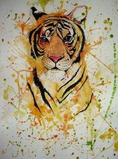 Beautiful tiger painting