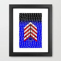 American Anchor, & Water Stars Framed Art Print by seb mcnulty - $32.00