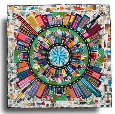"""""""Color My World"""" by Wendy Williams House Quilt Patterns, House Quilts, Patchwork Patterns, Barn Quilts, Mariners Compass, The Quilt Show, Sampler Quilts, Foundation Piecing, Block Of The Month"""